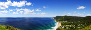 Mountains Meet The Sea by baz300388