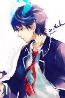Blue Exorcist: untitled by OXMiruku