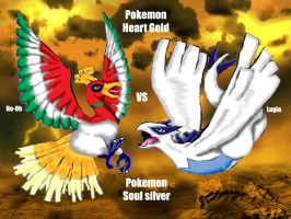 Ho-oh vs lugia by Animal-and-anime-lvr