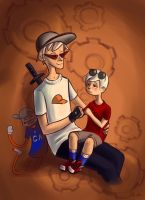 lil Dave and BRO by AokiAvsen