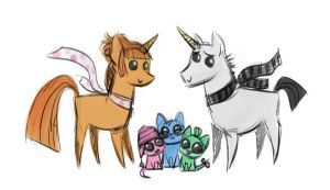 Despicable Me 2 x MLP sketch by Kethavel