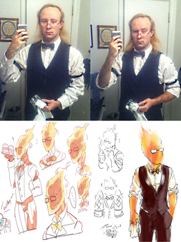 Grillby from Undertale Cosplay by Zel-Holt