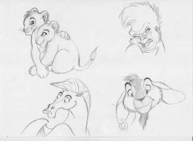 Disney Sketches by Hunchdebunch
