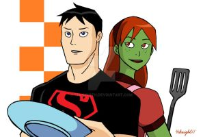 Superboy and Miss Martian by 4eknight11