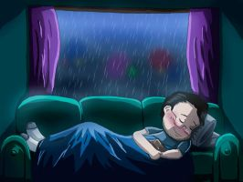 Markiplier- Rainy Day by The-Gr3y