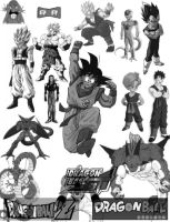 Dragon Ball Brushes by schmitthrp