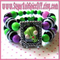Gir Beaded Charm Bracelet by wickedland