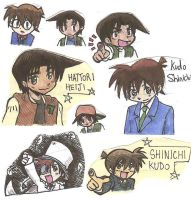 Detective Conan chibi collect by Marimokun