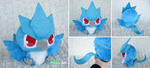 Baby Articuno plush V2 by PinkuArt