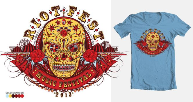 Riot Fest Music Festival Shirt 1 by reyjdesigns