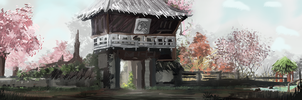 Chinese Teahouse by SageRare