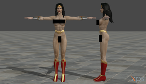 Wonder Woman nude mod by ranwolf-nudes