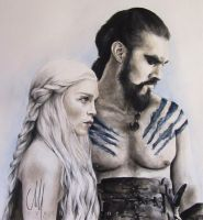 game of thrones - daenerys targaryen . khal drogo by cymue
