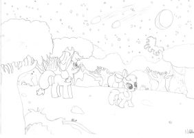 Applejack and Apple Bloom - PFE Family Competition by NightspherethGnostic