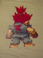 Super Puzzle Fighter Akuma by rebornflame