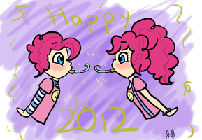 New Year with Pinkie and Berry by VarietyChick