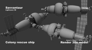 Colony rescue ship by chameleon-unwf