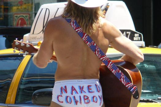 Naked Cowboy by CornerInTheCosmos