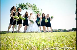 Wedding Dress and Bridesmaids by CastleCorsetry