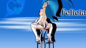 Felicia in Tina Armstrong DOA 5 costume (back  by DragonLord720