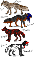 Scene dog adoptables 9 by DrappingMalice