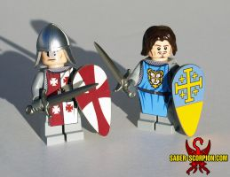 LEGO Kingdom of Heaven Minifigs by Saber-Scorpion