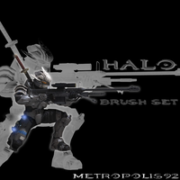 Halo Photoshop Brush Set - WIP by metropolis92