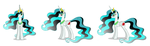 Emerald Star Three-Pose Angle by MegaBoltHQ