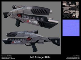 M8 Avenger Rifle - 3D Model by CliffeArts