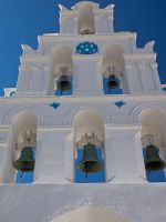Church Bell Tower Santorini Greece by davepphotographer