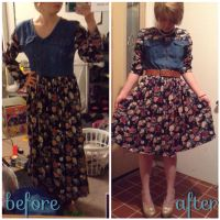 Frump to Fab: Vintage Floral Dress by linkinlogsss
