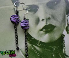 ZEBRA EARRINGS by TocsinDesigns