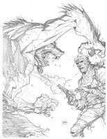 Cowboy VS Werewolf by Darry