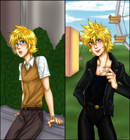 Grease - Roxas by x-Lilou-chan-x