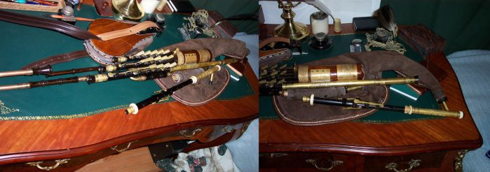 Uilleann Pipe Engravings by Antaine