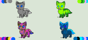 wolf pup adopts: 5-7 points by cuteadoptables101