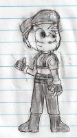 Amy Rose as Jill Valentine (S.T.A.R.S. outfit) by Joeycrick
