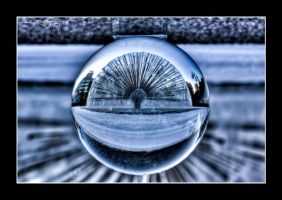 City fontain thru a glass ball by OrisTheDog