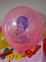 Swimwear's girl(Handdrawing on the balloon) by Solatokimi