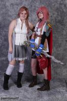 Colossal-Con 2012! Lightning and Serah. by chibicosplayer