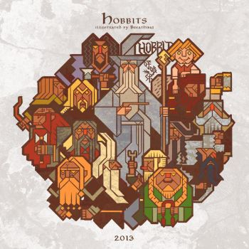 disk of hobbits by breath-art