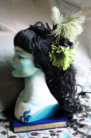 Spring Moss Green Fascinator by blasphemina