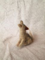 Belvok the Needle Felt Tiny Wolf Doll by shadechristiwolven