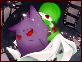 gengar and gardevoir pokemon by princessofcosplaying