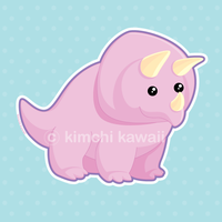 Sweet Triceratops by kimchikawaii