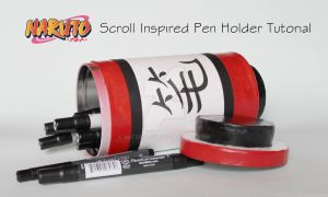 Naruto Scroll Inspired Pen Holder by ArtzieRush