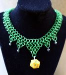 Green D20 Necklace by Utopia-Armoury