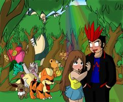 Lou and Jay: Walk in the woods by AceofAbra