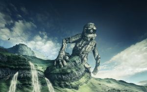 Stone Giant Desktop by ImaginateArtwork