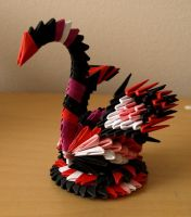 Small Colorful Swan (3D Origami) by Denierim